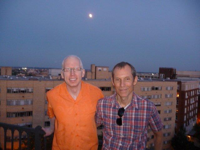 John and Phil under the Moon