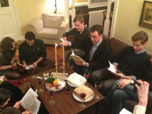 The YAG gathered at the home of a member with Jewish ancestry for a seder during Holy Week.