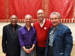 Mr. Chuck Hicks, Dignity/Washington president Dan Barutta, Mr. Phil Pannell, and D/W event coordinator Jose-Luis Sanchez
