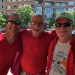 Dignity Washington President Dan Barutta, Vice-President Tom Bower, and John Hagar at 2014 Capital Pride Parade