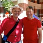 Dignity Washington members James Sweeney and Lenny Latham at the 2014 Capital Pride march.