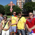 Religious faith dimension brought prominently to 2014 Capital Pride Parade by Dignity Washington members (L-R) Alan Diaz, Kenneth Dowling, Jason Entsminger, and Paul Mills.