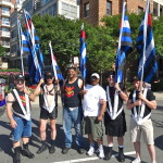 Members of the Defenders Group of Dignity/Washington prepare to march during the 2014 Capital Pride Parade