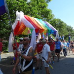 Dignity/Washington Contingent on the march during the 2014 Capital Pride Parade.