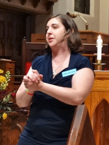 Rabbi Laurie Green delivers her homily on Pentecost Sunday at Dignity/Washington