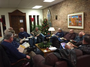 Book Club Meeting at the Dignity Center